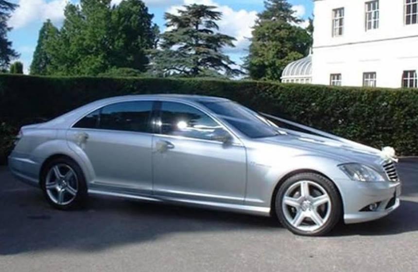 Silver Mercedes Wedding Car Modern Wedding Car Hire In